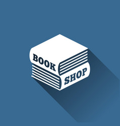 Book shop logo vector