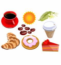 breakfast elements vector image