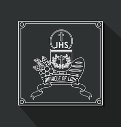 Catholic design vector image