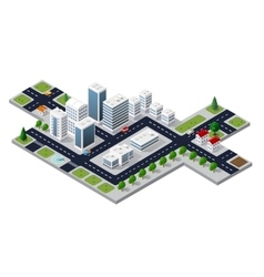 Cityscape view of the top vector