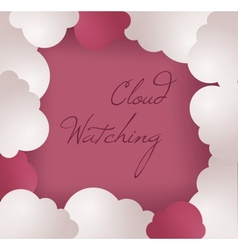 Cloud frame background vector image vector image