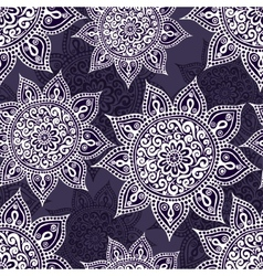 Ethnic seamless pattern with mandala and paisley vector
