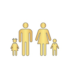 Family computer symbol vector