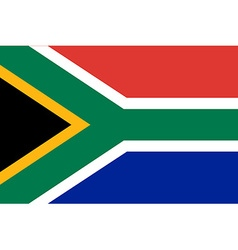 Flag of South Africa vector image