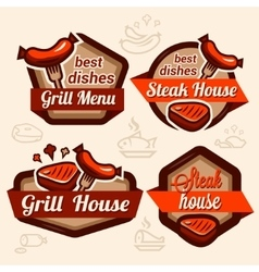 food logos set vector image