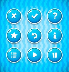 Game Buttons with Icons Set 2 GUI elements vector image