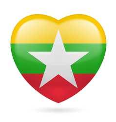 Heart icon of myanmar vector