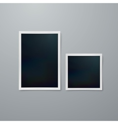 Instant photo frames vector image