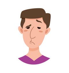 Male emoji cartoon character vector