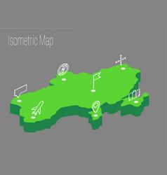 map ukraine isometric concept vector image vector image