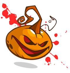 pumpkin on bloody background cartoon vector image
