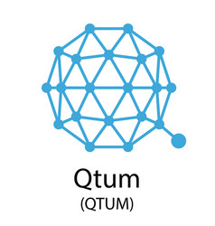Qtum cryptocurrency symbol vector