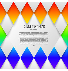 Rainbow colored template for vector