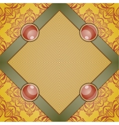 Retro background with ornament vector