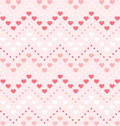Retro seamless geometric pattern Color hearts and vector image