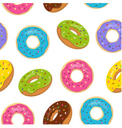 seamless pattern with colorful glazed vector image vector image