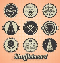 Shuffleboard Labels vector image