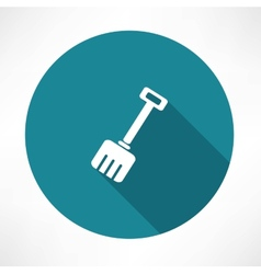 Snow shovel icon vector