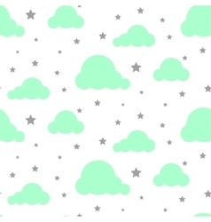 Starlight night sky seamless pattern vector