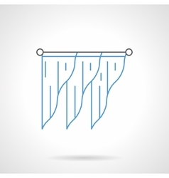 Stylish drapes flat line icon vector image vector image