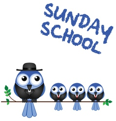 Sunday school perch vector