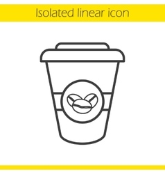 Takeaway coffee cup icon vector image vector image