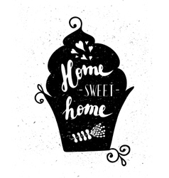 The cupcake with the phrase sweet home vector