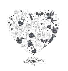 Valentines day element design for card vector