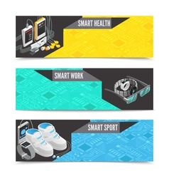 Wearable technology banners vector