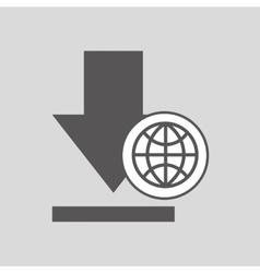 global digital network download design vector image
