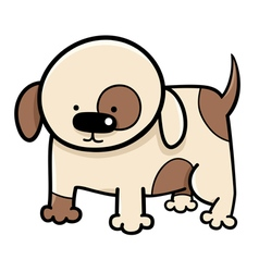puppy cartoon vector image