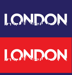 London city label vector