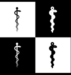Symbol of the medicine  black and white vector