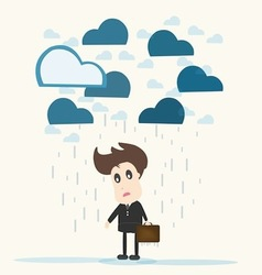 Despair businessman vector