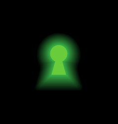 Keyhole with light vector image