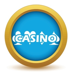 Gold casino icon vector
