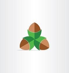 hazelnuts flat icon design vector image