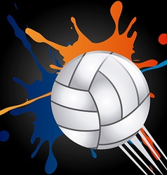Volleyball emblem design vector
