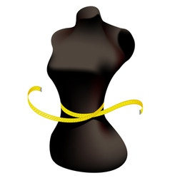 Mannequin and measuring tape vector