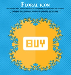 Buy online buying dollar usd floral flat design vector