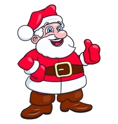 Cheerful smiling santa claus 2 vector