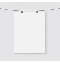 Photorealistic dark poster on a string vector