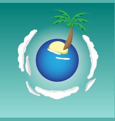 island planet vector image