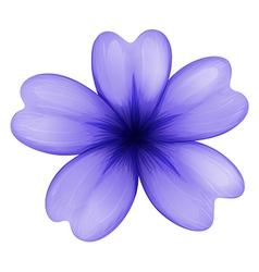 A violet flower vector