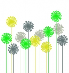 abstract dandelion vector image vector image