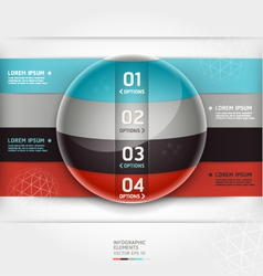 Abstract infographics element circle template vector