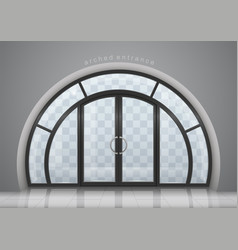arched door with window vector image vector image
