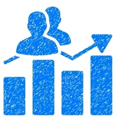 Audience graph grainy texture icon vector