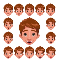Boy expressions with lip sync vector