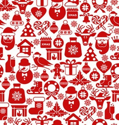 Christmas seamless pattern of icons vector image